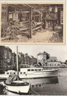 HONFLEUR - 2 CP : La Lieutenance - Musée Du Vieux Honfleur, Chez Le Tisserand - Honfleur