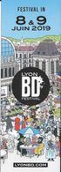 M-P MARQUE-PAGE LYON FESTIVAL IN  8 & 9 JUIN 2019 B.D. BANDE DESSINÉE - Marcapáginas