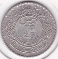 Syrie - Protectorat Française 25 Piastres 1929 En Argent Lecompte : 33 - Syrie