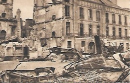 Cpa 44 Nantes Après Les Bombardements , Ww2 , Quai De La Gloriette , L'hôtel Deurbroucq - Nantes