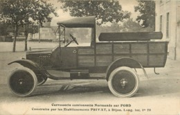 21 Dijon établissement Privat  Carrosserie Camionette Sur Ford  Normande Ref 1885 - Dijon