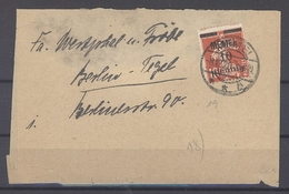 Memel, Streifband 1920 10 Pfg. EF Aus Memel Nach Berlin, Gp. BPP (28804) - Lettres & Documents
