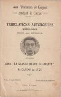(TRE) Tribulations Automobiles , Monologue Récité Par GUIGNOL ,   AIMOS - Partitions Musicales Anciennes