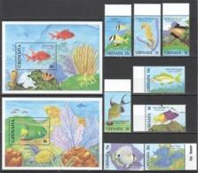 W708 1999 GRENADA FAUNA FISH & MARINE LIFE #2809-16 MICHEL 33 EURO 1SET+2BL MNH - Marine Life