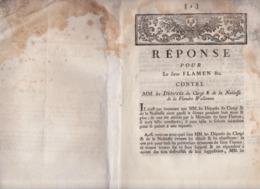 Document XVIIIe Flamen Wez Macquart Armentières Bac Du Crocq La Bassée Erquinghem Ypres Comines Aire Lys Lille Vanzelers - Historical Documents