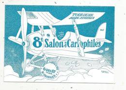 Cp, Bourses& Salons De Collections, 8 E Salon Des Cartophiles De Toulouse-Midi-Pyrénées,1987,illustrateur SAMSON - Bourses & Salons De Collections