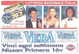 1995 £750 OFTALMOLOGIA SU CARTOLINA LOTTERIA NAZIONALE ITALIA - Pubblicitari