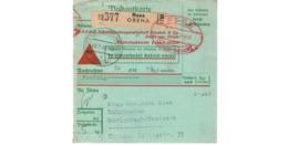 Allemagne  - Colis Postal  Départ Rees Oreha - Allemagne