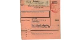 Allemagne  - Colis Postal  Départ Freiburg ( Breisgau )  Otto Schreiber - Allemagne