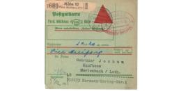 Allemagne  - Colis Postal  Départ Köln   Ferd. Mülhens  -  8-2-43 - Allemagne