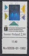 Finland 1992 European Technology Cooperation / Hologramm 1v  ** Mnh (44664) - Europese Gedachte