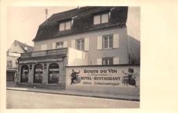 """¤¤  -    MARLENHEIM   -   Carte-Photo Du Restaurant """" Léon Claude """"  -  Rue Du Générale De Gaulle    -  ¤¤ - Francia"""