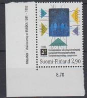 Finland 1992 European Technology Cooperation / Hologramm 1v (corner)  ** Mnh (44664A) - Europese Gedachte