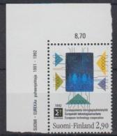 Finland 1992 European Technology Cooperation / Hologramm 1v (corner)  ** Mnh (44664B) - Europese Gedachte