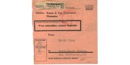 Allemagne  - Colis Postal  Départ Pirmasens -  Kaiser & Cie Schuhfabrik  -  3-2-43 - Allemagne