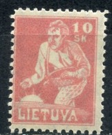 LITHUANIA 1921 87 Sower. First Issue Of Final Stamps - Landbouw