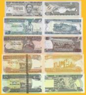 Ethiopia Set 1, 5, 10, 50, 100 Birr 2008-2015 UNC - Etiopía