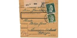 Allemagne  - Colis Postal  Départ Kirn  -   Pour Beningen ( Bening  )  -  18-3-43 - Allemagne