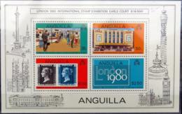 ANGUILLA Bloc 29 ** MNH Stamp Exhibition Expo Philatélique Londres London 1980 (CV 4,50€) [GR] - Anguilla (1968-...)