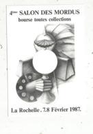 Cp, Bourses& Salons De Collections, 4 E Salon Des MORDUS ,bourse Toutes Collections,1987 ,LA ROCHELLE,n° 3921 - Bourses & Salons De Collections