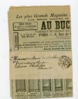 """CACHET DES IMPRIMÉS """"PARIS ? PP"""" SUR BANDE DE JOURNAL SUR PUB """"AU BUCHERON"""" DE 1899 - Marcophilie (Lettres)"""