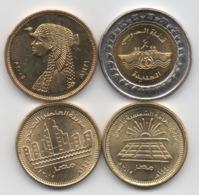 Egypte : Lot De 4 Pièces UNC Ou Presque : 50 Piastres & 1 Pound (BIMETAL) - Egypte