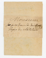 """GRIFFE  """"PP"""" SUR BANDE DE JOURNAL POUR L'ELECTION AU CONSEIL GENERAL DE MONTEMBOEUF AVEC BULLETIN 1898 - 1877-1920: Période Semi Moderne"""
