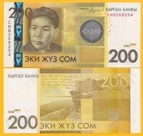 Kyrgyzstan 200 Som P-27b 2016 UNC Banknote - Kirgizïe