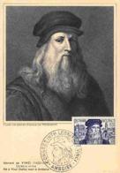YT 929 - Léonard De Vinci - Carte Maximum 1952 - Maximum Cards