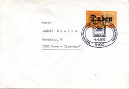 """(Bu-B1) BRD Sonderstempel-Beleg """"DUDEN"""" EF BRD Mi 1039 SSt 6.3.1980 AACHEN 1 - BRD"""
