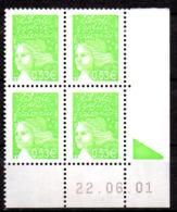 Col12   France Coin Daté N° 3450 / 3429 Luquet  22 06 01  Neuf XX MNH Luxe - 2000-2009