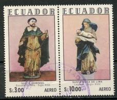 Equateur - Ecuador Poste Aérienne 1972 Y&T N°PA541 à 542 - Michel N°(?) (o) - Sculptures Religieuses - Se Tennat - Equateur