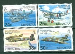 Gibraltar: 1998   80th Anniv Of R.A.F.   MNH - Gibilterra