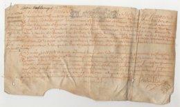 Parchemin Normandie 1692  Au Seigneur D'Auvilliers François De Monsures Dim 28 X 15 Cm - Manuscripts