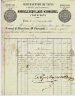 TEXTILES DU NORD 1844 PARIS & LILLE MANUFACTURE DE TAPIS  ROUSSEL REQUILLART CHOCQUEEL à Tourcoing => Delaroche Le Havre - France