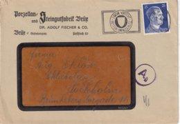 ALLEMAGNE 1943 LETTRE DE BRUX - Storia Postale