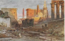 AK 0320  Wuttke , C.  - Tempel Luxor Ca. Um 1920 - Künstlerkarten