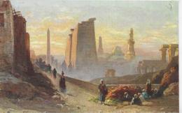 AK 0320  Wuttke , C.  - Tempel In Morgenstimmung  Luxor Ca. Um 1920 - Künstlerkarten