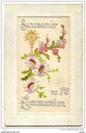 N°9102 - Carte Brodée - Souvenir De 1ère Communion - Brodées