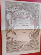 L' AFRICAINE Banque D'Etudes Et D'Entreprises Coloniales - Africa