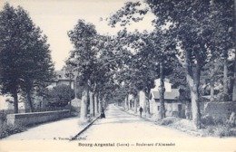 """CPA FRANCE 42 """"Bourg Argental, Bld D'Almandet"""" - Bourg Argental"""