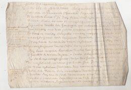 Parchemin Normandie 1670  Au Seigneur D'Auvilliers François De Monsures Dim 26 X 18 Cm - Manuscripts