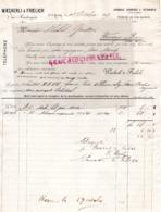 SUISSE- LAUSANNE- RARE FACTURE 1893- WAECKERLI & FROELICH- TOILERIE SARRAUX- CHEMISES-1 RUE MAUBORGET - Svizzera