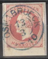 Hannover 23 Unterrand O Briefstück Zweikreisstempel Osnabrück - Hannover