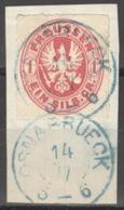 Preußen 16 O Briefstück Nachverw. Hannover-Stempel Osnabrück - Preussen