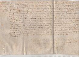 Parchemin Normandie 1571 Aveu  à La Seigneurie D'Auvilliers Dim 31 X 20 Cm - Manuscripts