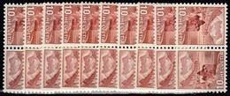 10x Switzerland Suisse Schweiz 1942, Landscapes As Inverted Pairs (tête-bêche) (MNH, **) - Stamps
