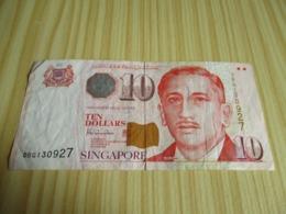 Singapour.Billet 10 Dollars. - Singapore