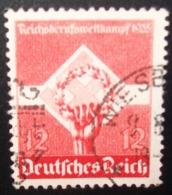 N°195E TIMBRE DEUTSCHES REICH OBLITERE - Usados