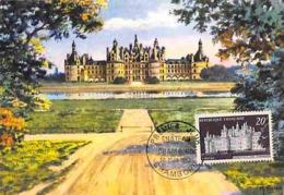 YT 924 - Châteaux De La Loire - Chambord - Carte Maximum 1952 - Cartas Máxima